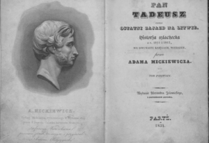 Pan Tadeusz 1 Wydanie Paryz 1834