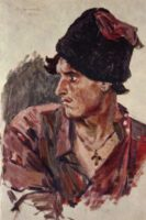 Vasyl Surikow. Młody kozak